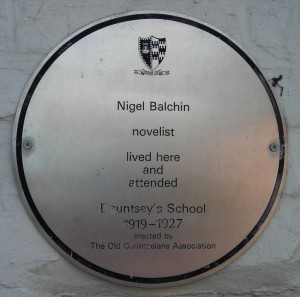 A plaque on the front of one of Balchin's childhood homes, but where was he born?